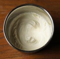 Whisk the cream till soft peaks
