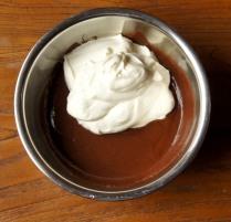 Add half the cream