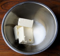 Place cheese+sugar into bowl