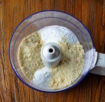 Ground almonds+icing sugar