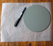 Draw circles on baking paper