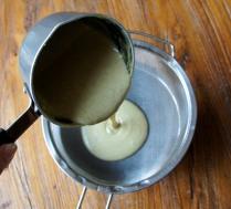 Pour through the sieve