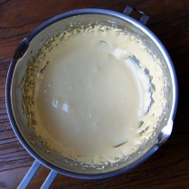 Thick and creamy egg mixture