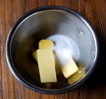 Place butter and sugar in a bowl