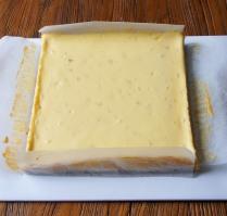 Bake for 25min or until just set