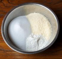 Add sugar and coconut