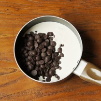 Chocolate+cream in a saucepan