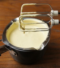 Egg mixture is thick and creamy