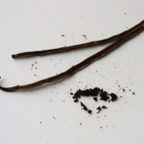 Scrape vanilla seeds