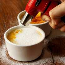 Melt the sugar with a blowtorch
