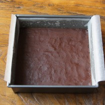 Press into the tin, refrigerate