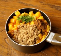 Mango+brown sugar+zest+5spice