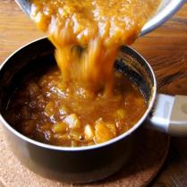 Stir the mashed mango back