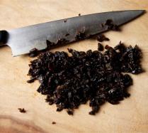 Chop the raisins