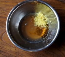 Honey+zest/juice+rose water