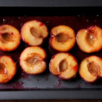 Turn the plums, grill 5min