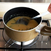 Mix well, bring to a slow simmer