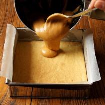 Pour mixture atop shortbread