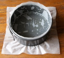 Grease and line the baking tin