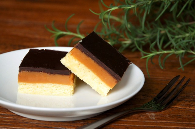 Shortbread with Salted Rosemary-Infused Caramel