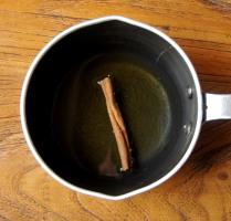 Water+honey+cinnamon stick