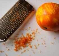 Grate orange zest