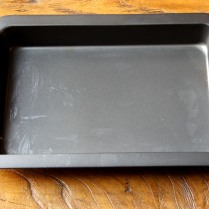 Grease the baking dish