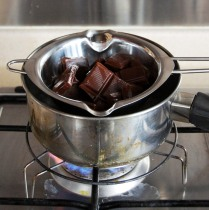 Chocolate over simmering water