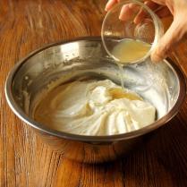 Add warm gelatine mix