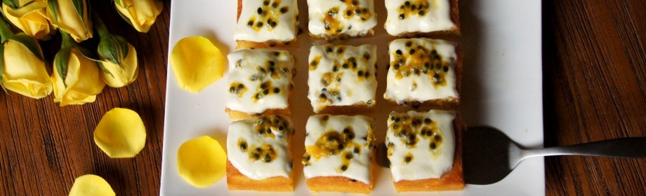 Passionfruit Madeira Cake
