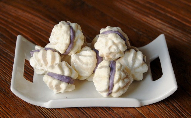 Blueberry Meringue Kisses