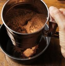 Sift in cocoa powder
