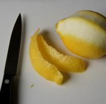 Peel lemon skin