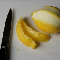 Peel lemon skin