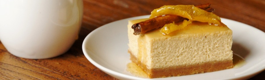 Mixed Spice and Honey Syrup Cheesecake