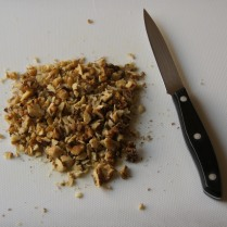 Chop walnuts (coarsely)