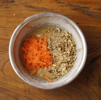 Add carrot and walnut