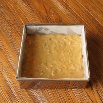 Even surface, bake 15-20mins