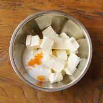 Cream cheese+rind+sugar