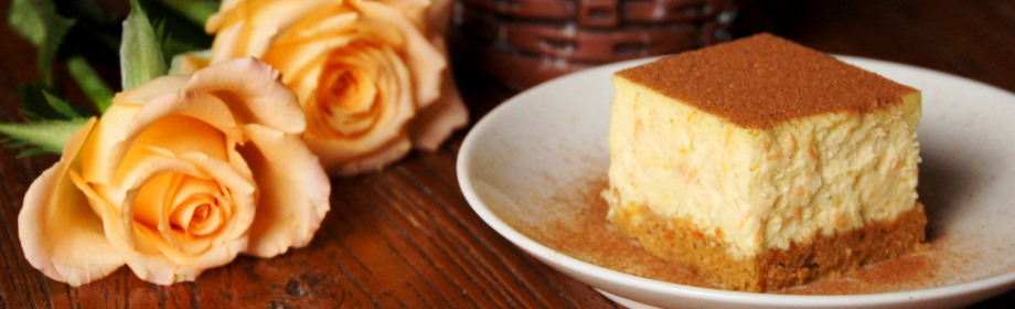 Spicy Carrot and WalnutCheesecake