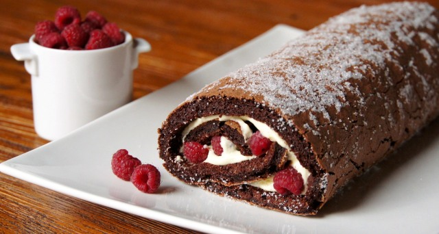 Decadent Chocolate Raspberry Roulade