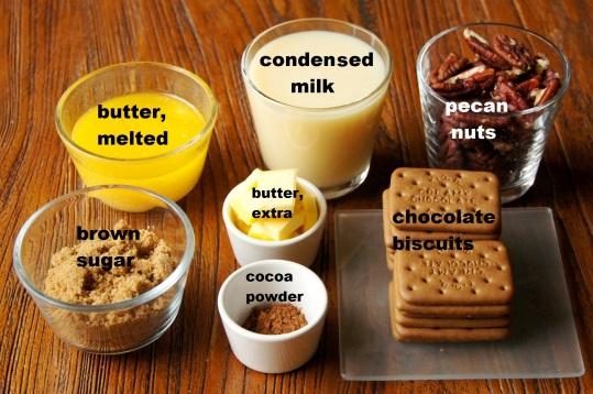 Ingredients: Caramel Pecan Squares