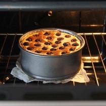 Bake 1hr or till set, cool in oven