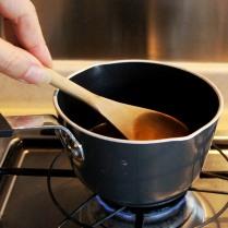 Heat until sugar dissolves