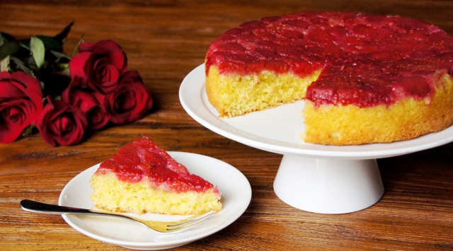 Raspberries, Coconut and Lime Cake