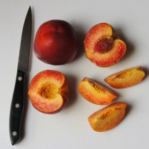 Cut nectarines, remove stones