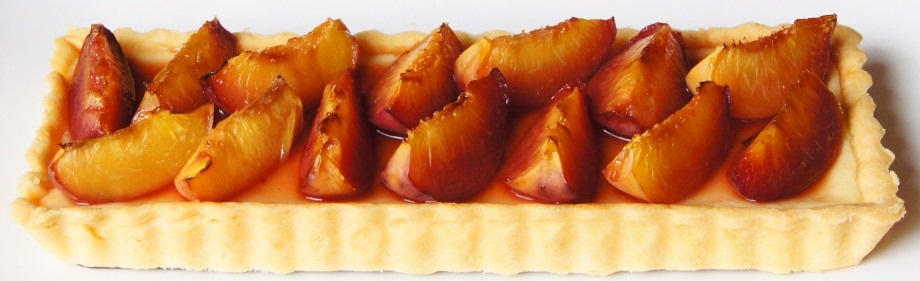 Orange and Roasted Nectarine Cheesecake Tart