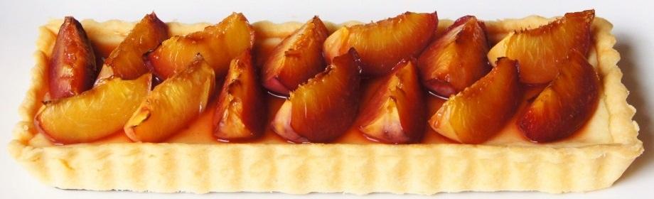 Orange and Roasted Nectarine CheesecakeTart