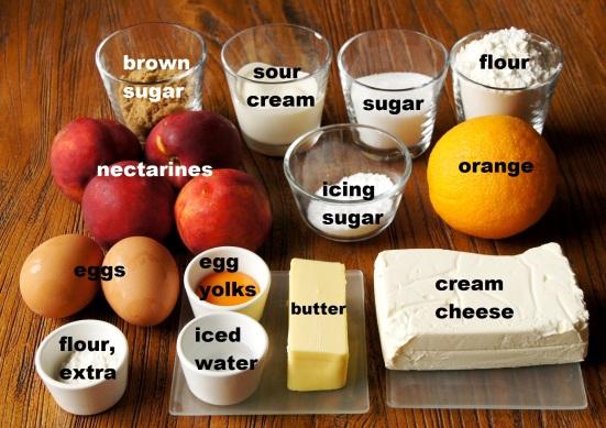 Ingredients: Orange and Roasted Nectarine Cheesecake Tart
