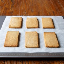 Remove shortbread from oven